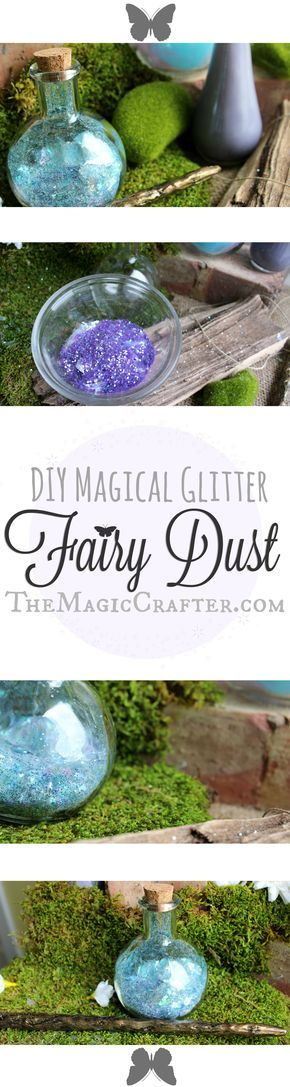 How to Make Magic Fairy Dust Potion ♥ DIY Fairydust VideoTutorial ♥ Perfect Fairy Dust or Pixie Dust for costumes and party props! #pixiedust #fairies #FairyDIY #DIYPotion