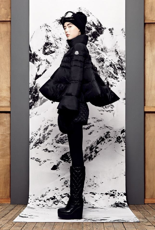 Wanna go skiing with Moncler.  - B