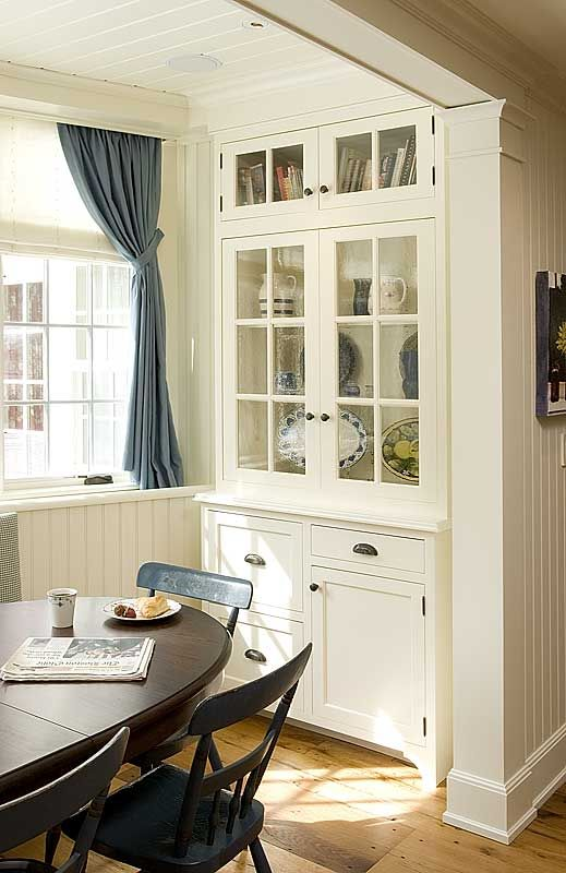 Built in ideasDining Room Storage, Dreams Kitchens, China Cabinets, Breakfast Nooks, Built In, Builtin, Cupboards Doors, Dining Nooks, White Kitchens