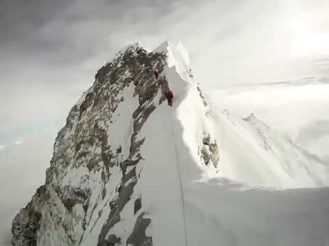 Walking on South Col of the Mount Everest