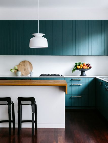 Forest green cupboards 2016 Australian Interior Design Awards shortlist announced - The Interiors Addict