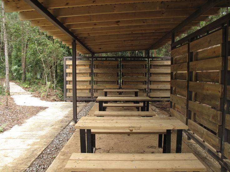 galera mobiliario urbano para el parque arvi escala urbana