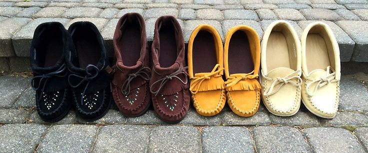 Leather Moccasins - Native Canadian Moccasins - Men, Women & Children – Leather-Moccasins