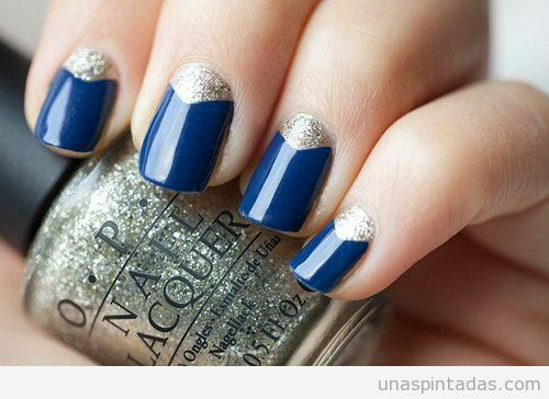 Imagine nails, blue, and silver