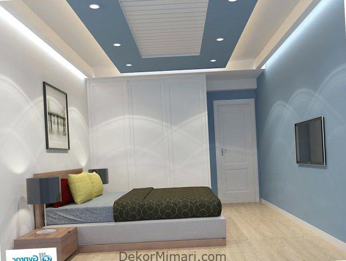 Modern Asma Tavan Modelleri Dekorasyon Yatak Odasi Basit Yatak Odasi Tasarimlari Tasarim Oda