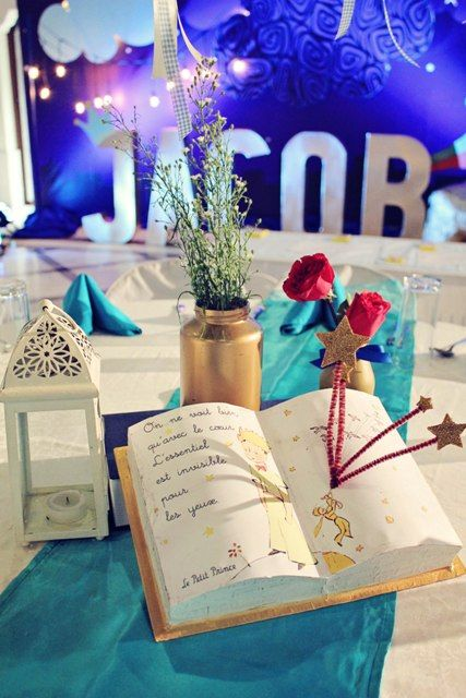 Jacob's The Little Prince Themed Party – Centerpiece