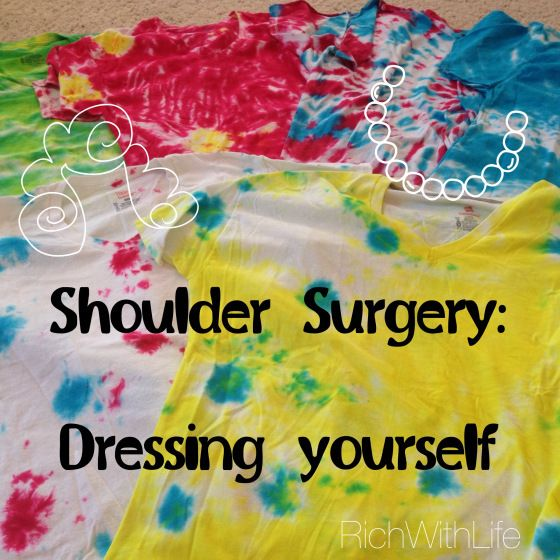 Shoulder Surgery - What to wear. How to make your own post-surgery t-shirts!