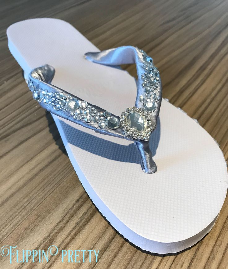 Excited to share the latest addition to my #etsy shop: Bridal Flip Flops, sandals, Beach Wedding, wedding slippers, diamante & pearl flip flops, pretty flip flops, wedding shoes,wedding gift,