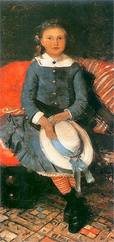 Portrait of a Girl in a Blue Dress (Leon Jan Wyczolkowski - 1884)