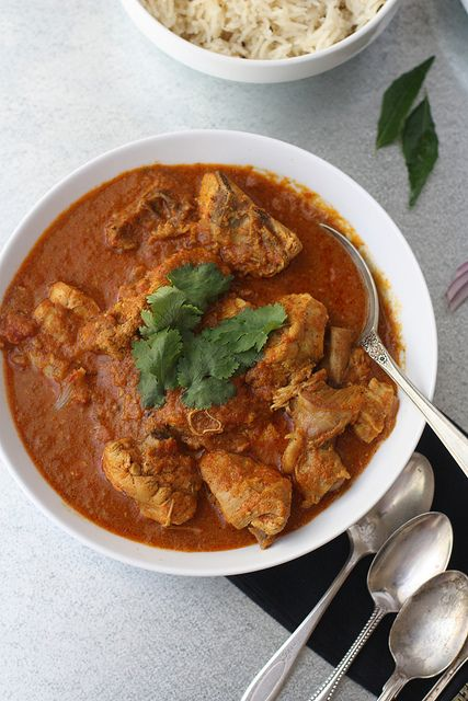 Achari Chicken- Chicken simmered in pickling spices.  Indian curry. #Indian #Curry