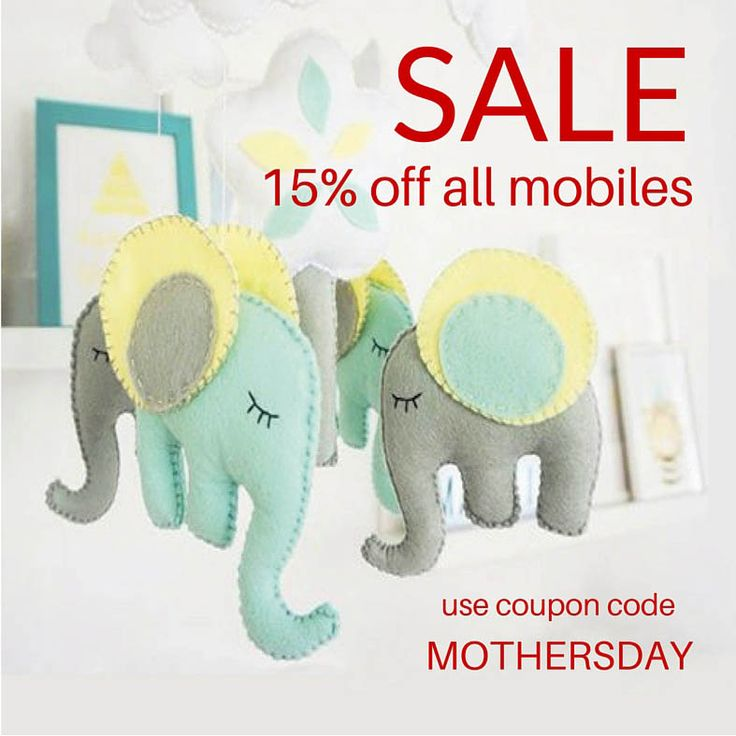 Sale ! 15% off all nursery mobiles and stuffed toys! 15% discount. If you are planning your baby room or you are looking for a baby shower gift take advantage of this awesome SALE! https://www.etsy.com/shop/LaPetiteMelina