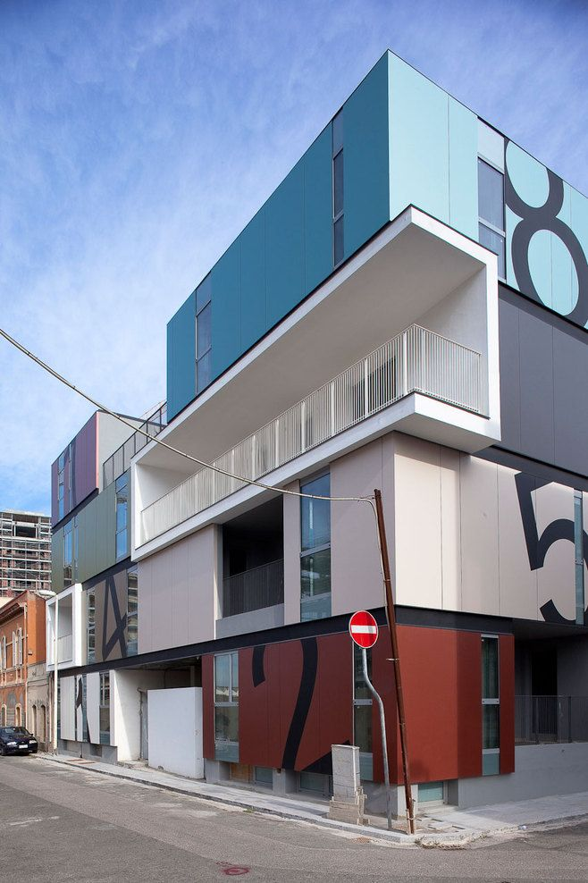 Condominio P by C+C04STUDIO: Residential Architecture, Projects, Cc04Studio, Condominio, Studios, Building Exterior, C C04Studio, Exterior Inspiration, Tins Houses