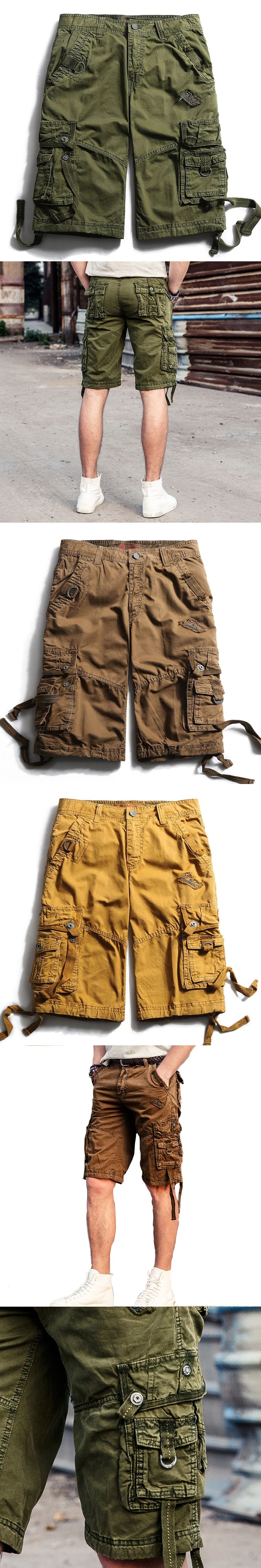 Brand clothing 2017 Men Military Shorts Summer Men's Army Cargo Shorts Workout Shorts Homme Casual Bermuda Trousers plus size 40
