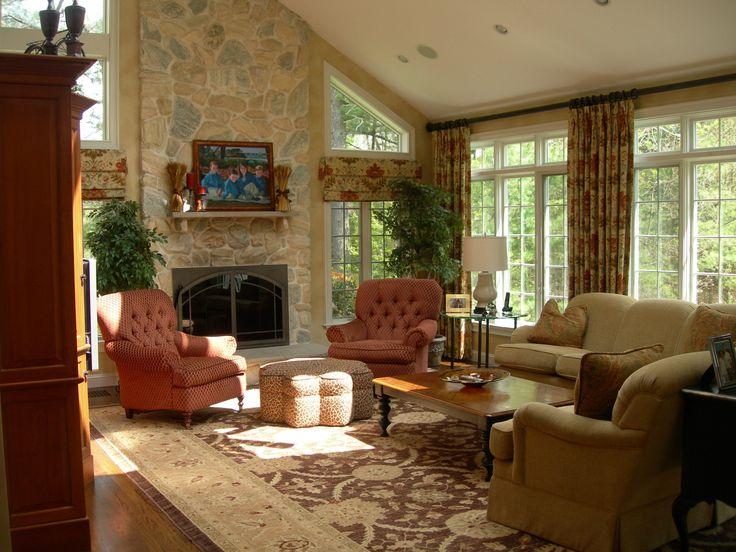 Wohnzimmer Cottage Stil Hauser Englisch Auf Dem Land Innenarchitektur Wohnwelten Sessel Teppiche Klassisch English Style