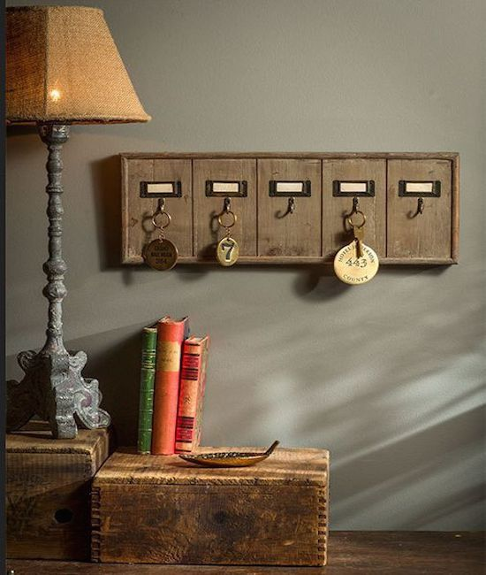 Rustic Key Rack - Make a bigger one for to maybe hang jewelry