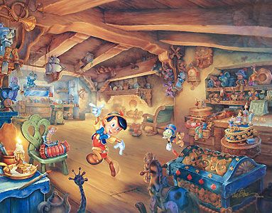 Pinocchio - Pinocchio's Magical Adventures - Tom duBois - World-Wide-Art.com - #disney #pinocchio #jiminycricket