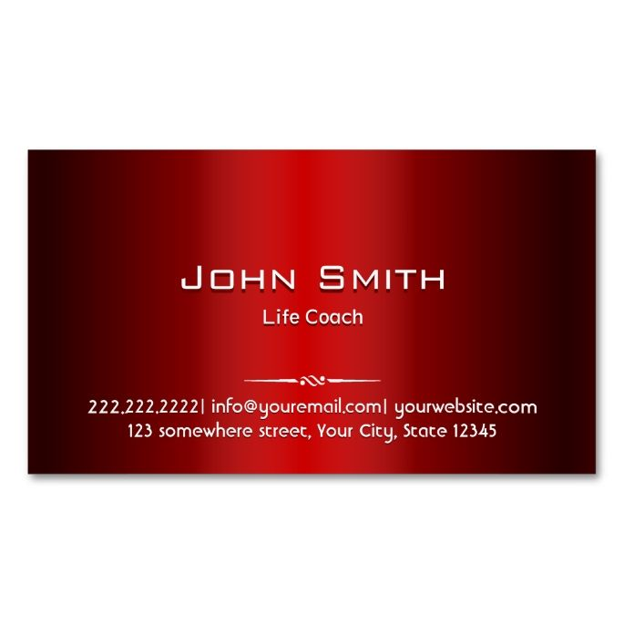 red metal life coach business card i love this design it is available