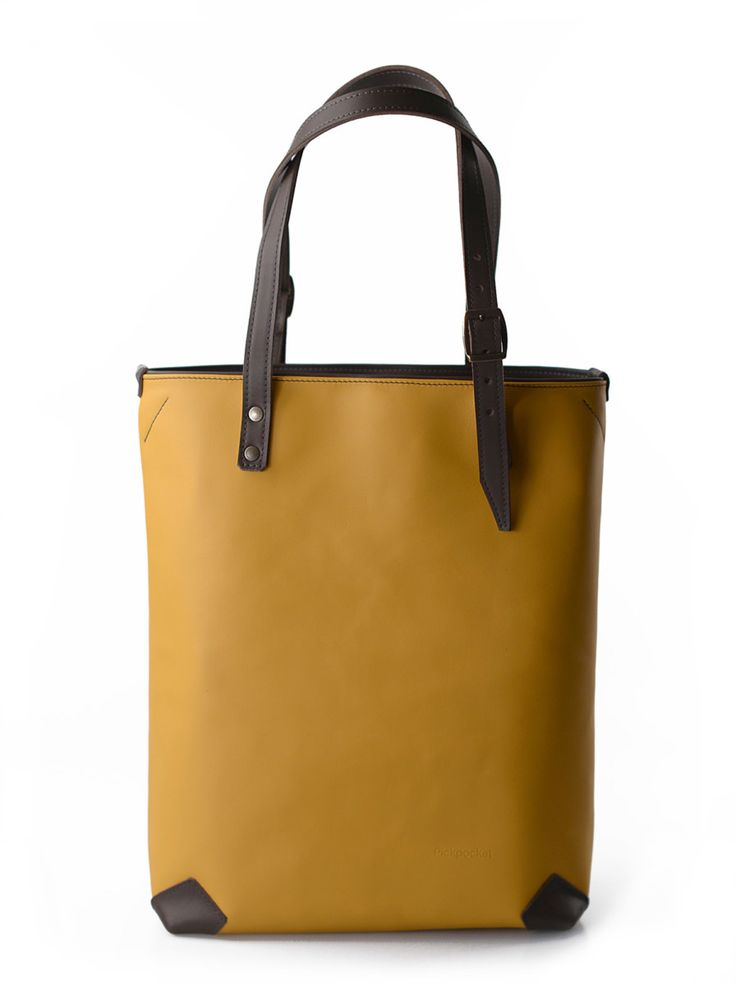 Pickpocket Bags - Allium Model by Pickpocket - Leather Bag - Tote Bag - Yellow Genuine Leather - Yellow Bag - Large Bag