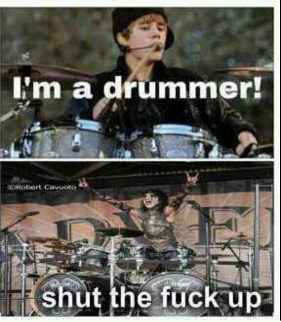 Hahhahaha funny black veil brides christian coma justin bieber drums drummer