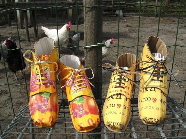 Schoenen van karton