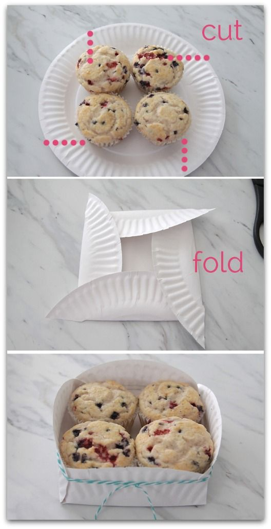 Paper Plate Basket - what a great way to send home leftovers
