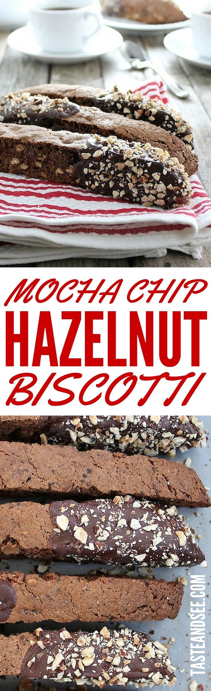 Mocha Chip Hazelnut Biscotti - loaded with chopped hazelnuts ...