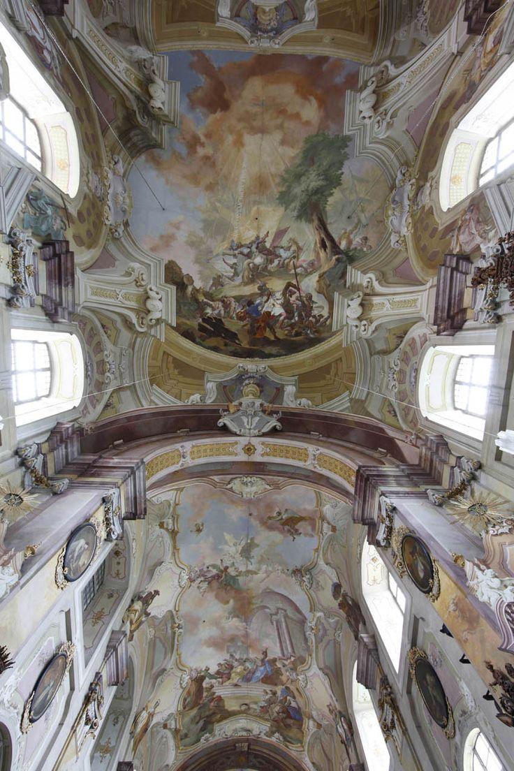 Johann Lucas Kracker - freska hl. lodi kostela sv. Petra a Pavla v Nové Říši, (Předání klíčů sv. Petrovi), 1766