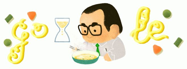New Google Doodle Honors Instant Noodle Inventor Momofuku Ando   TIME  Peel off lid. Pour boiling water. Steep for three minutes. Stir well and serve.  Thursday marks the 105th birthday of Taiwanese-Japanese inventor Momofuku Ando, whose instant noodles revolutionized the food world, and Google is honoring this king of quick cuisine with a new Google Doodle.