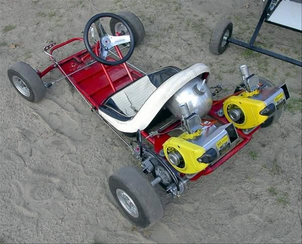1961 fox go boy with dual mcculloch mc20 engines go for Motor go kart for sale
