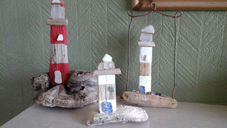 Love lighthouses and working with driftwood.