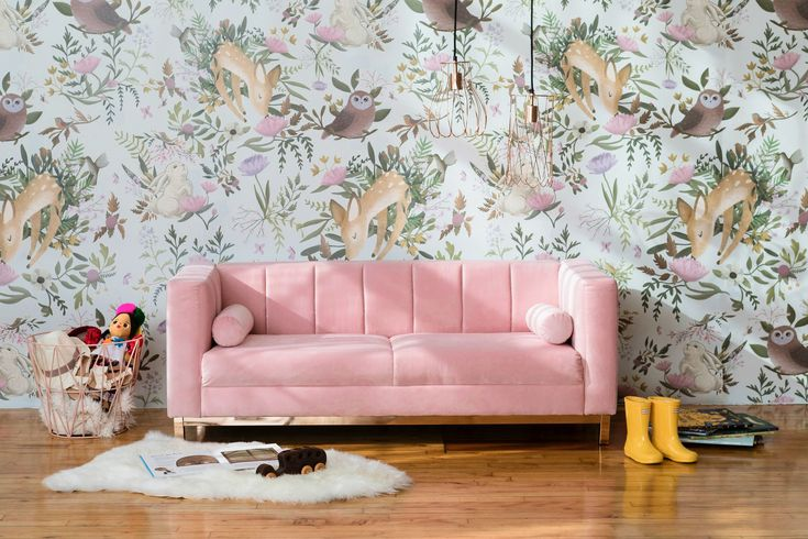 Love the wall paper!    Modern kids' furniture collections to shop right now - Curbed