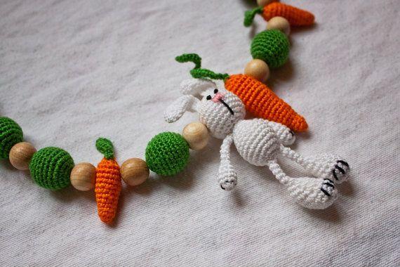 Sling bead necklace Bunny por OlgaPanyukova en Etsy