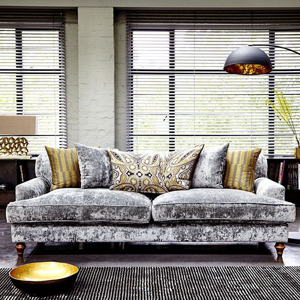 Add A Luxe Look To Your Living Room With A Crushed Velvet