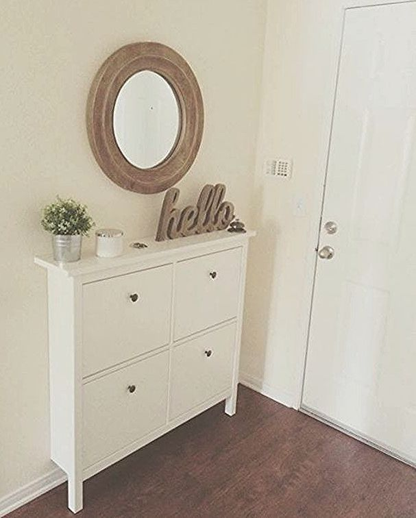 Billig Schmales Sideboard Flur In 2020 Small Apartment Entryway Ikea Hemnes Shoe Cabinet Small Entryways