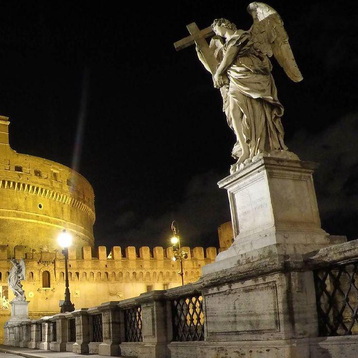 Rome / Italy Bridge Ponte Sant'Angelo witnessed many tragic events.