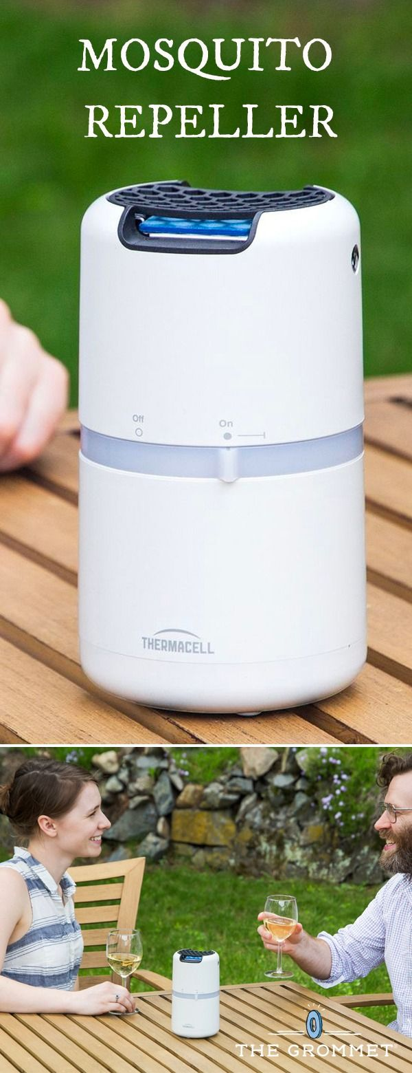 Instead of spraying on protection, lighting citronella candles, or hoping the bugs take an off day, this portable mosquito repellent creates a 15 by 15 foot protected zone.