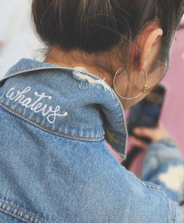 """embroidered denim jacket collar""  pinterest: @isobelvatilioti"