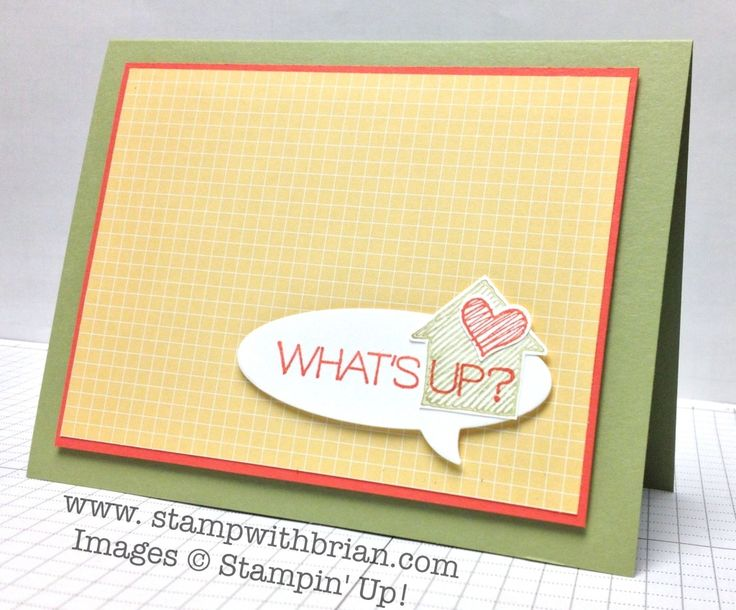 What's Up?, Say Something, Stampin' Up!, Brian King, PP195