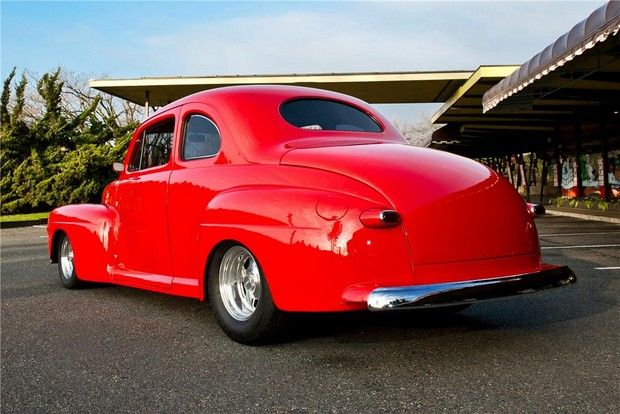 1947 ford custom 2 door coupe fat fender 46 48 ford for 1947 dodge 2 door sedan