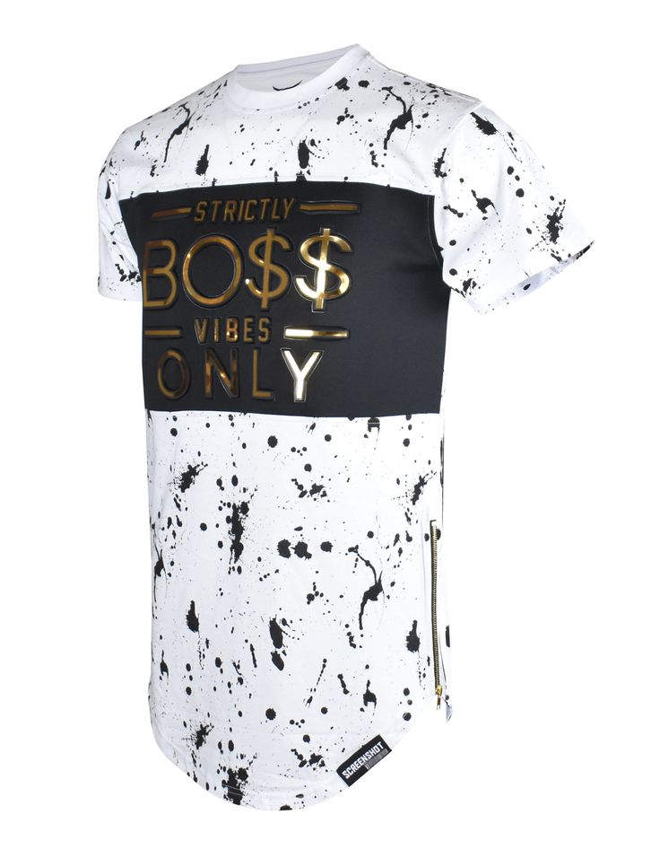 S11762-BOSS VIBE EMBOSSING TEE
