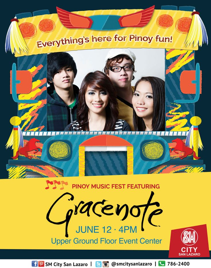 Everything's here for Pinoy Fun!   Celebrate Philippine Independence only at SM CITY SAN LAZARO!  Pinoy Music Fest featuring GRACENOTE live on June 12, 4pm at the Upper Ground Floor Event Center! See you all!   #pinoyfunph #pinoyfun #pinoyfunatSMCITYSANLAZARO
