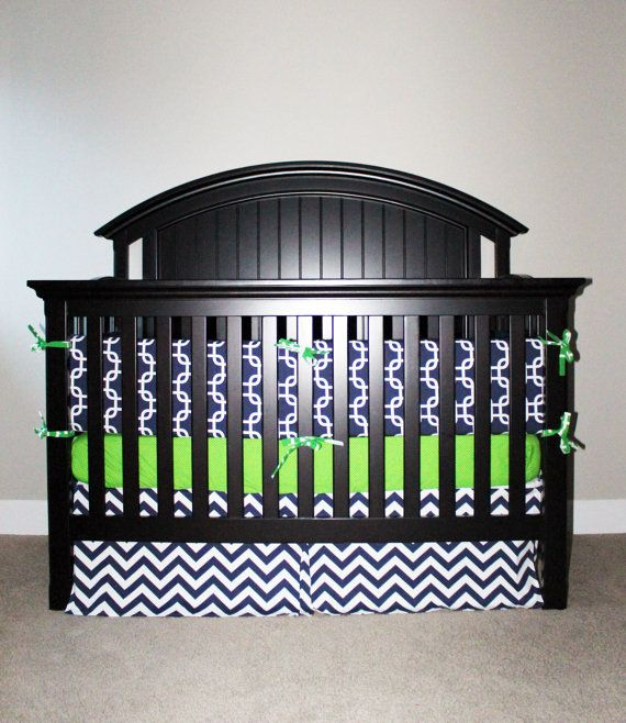 1201 best images about kids rooms on pinterest baby crib - Navy blue and green bedding ...