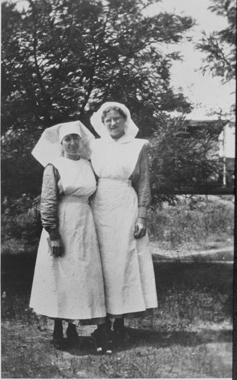 001500PD: Nurse Alma Cowcher (left) and Nurse Clarice Wintle at Blackboy Hill Camp, 1919?     http://encore.slwa.wa.gov.au/iii/encore/record/C__Rb4544108__S001500pd__Orightresult__U__X3?lang=eng&suite=def