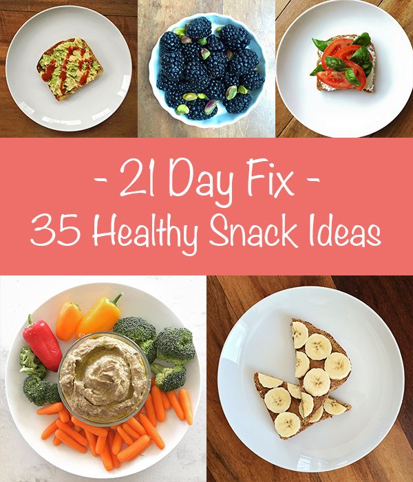 Healthy Snack Ideas for 21 Day Fix