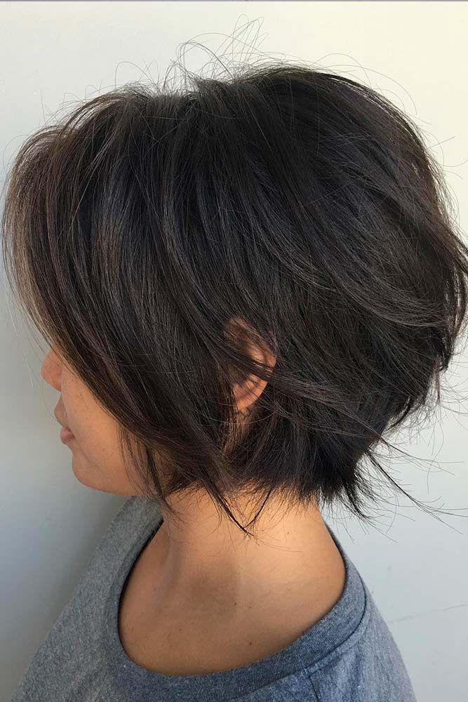 Feathered Bob ★ In case you would like to discover the most popular short layered haircuts, we can assure you that this …
