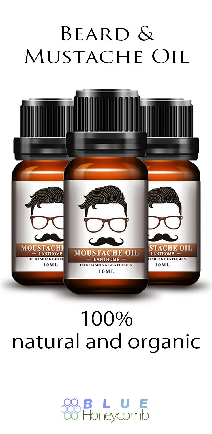 Our Beard and Mustache Oil is 100% natural and organic. It's pretty amazing. Perfect for all types of hair and skin type. This gentle Beard and Mustache Oil helps moisturize the face and makes your hair grow faster. This special blend contains 4 different types of moisturizing oils and essential oils that promote soft. supple skin and hair growth. #Beards #BeardOil #Grooming #Mensfashion
