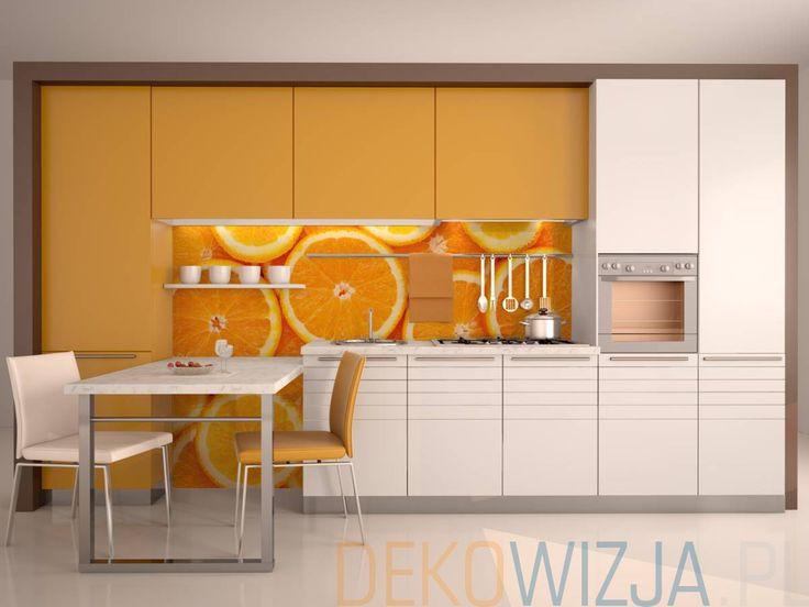 Fototapeta winylowa na flizelinie z laminatem z motywem pomarańczy