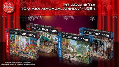 Neon Puzzle'lar 28 Aralık Perşembe A101 mağzalarında..!!