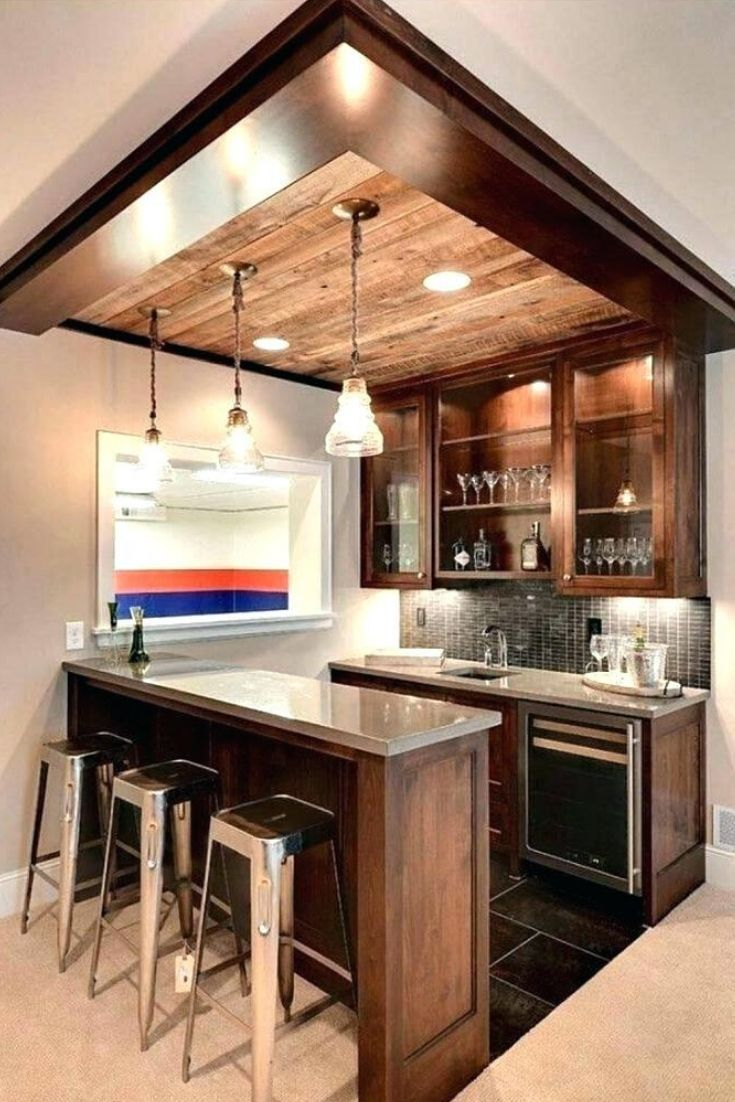 Finish Basement Ideas Step To Finish Basement Floor And Ceiling Small Basement Remodel Kitchen Bar Design Small Basement Bars