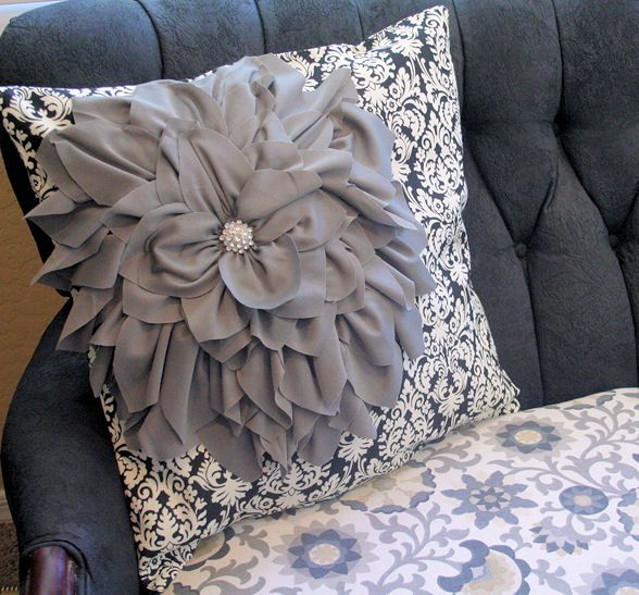 Bloom pillow (update a throw pillow with this charming flower how-to)